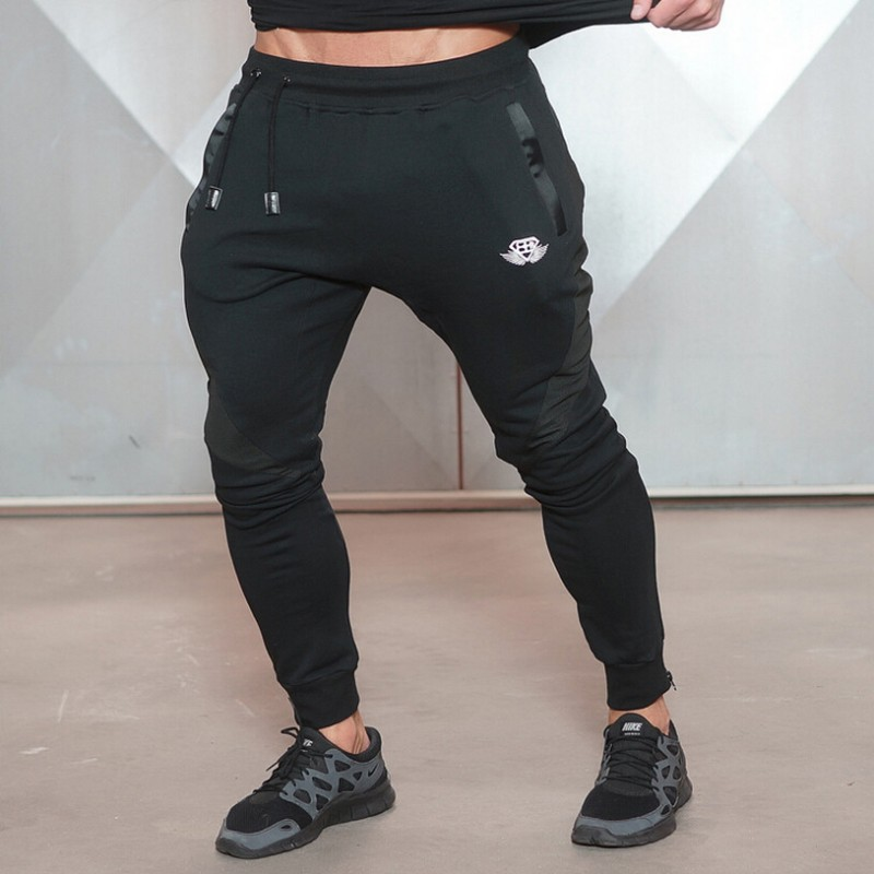 shark Men Casual Pants Shark Slim Fit Mens Trousers Professional Bodybuilding Sweatpants