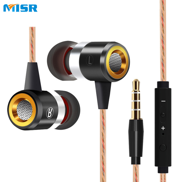 MISR A8  Wired In-Ear Earphone headset with Mic Microphone for mobile phones Stereo Bass Earbuds 3.5mm Jack