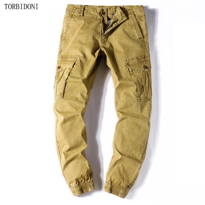 Mens Cargo Pants Casual Men Solid L High Quality Long Trousers Multi Pockets Work Pants Overall Male 28-38 Tactical Pants