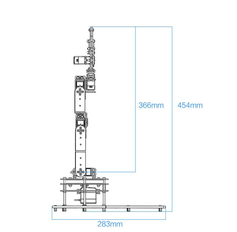 6 DOF Alloy Robot Arm (7)