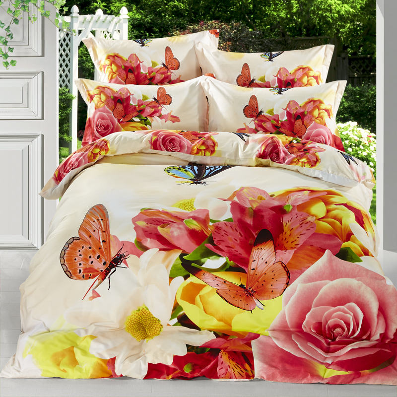Duvet Cover Bright Colored Flower