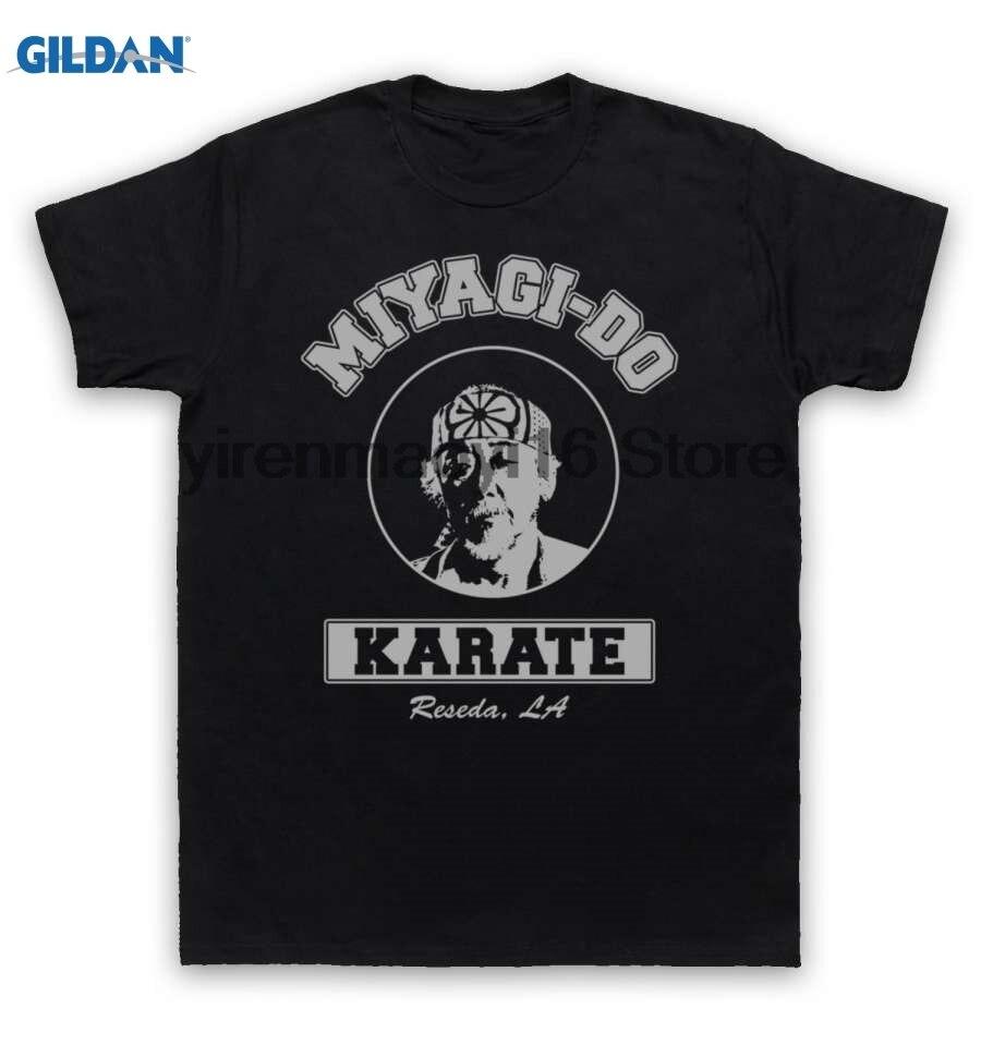 Возьмите хлопок o-образным вырезом Печать Мода футболка karate kid Футболка Mr Мияги