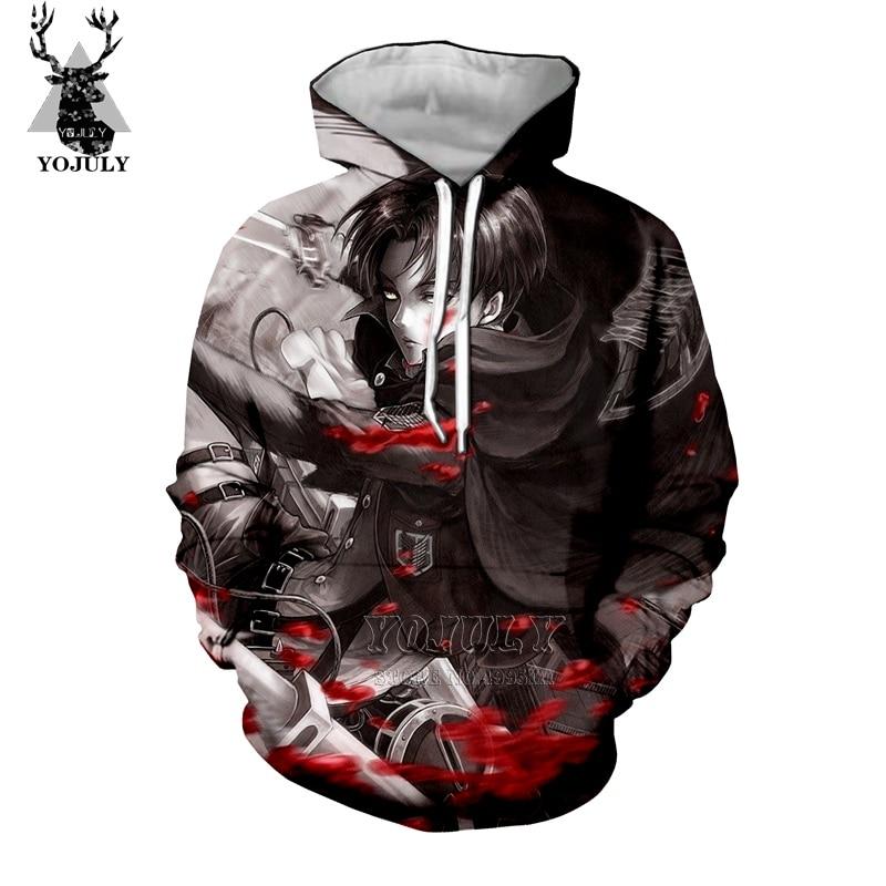 3052064b YOJULY 3D Print Unisex Shingeki No Kyojin Attack on Titan Levi Ackerman  T-shirt/Tshirt/Sweatshirt/Hooded hoodies/Jacket A275
