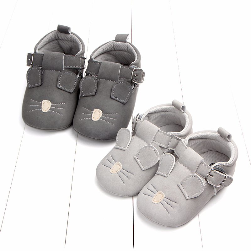 Baby First Walkers Matte leather Shoes for Baby Girl Boy Cartoon Animal Newborn Slippers Footwear Booties Kids Gift Child Shoes (11)