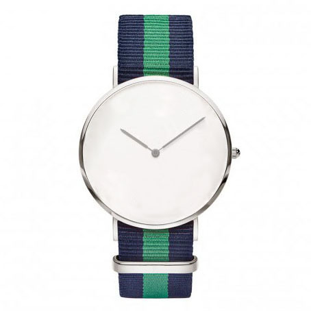 navy bands. no logo no name face watches bold designs 2015 Japanese movement no name green