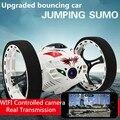 2016 New atualizado Salto Carro Dublê RC 4CH 2.4 GHz Pulando Sumo de Controle Remoto com Câmera WI-FI App controle Do Carro Rc brinquedos