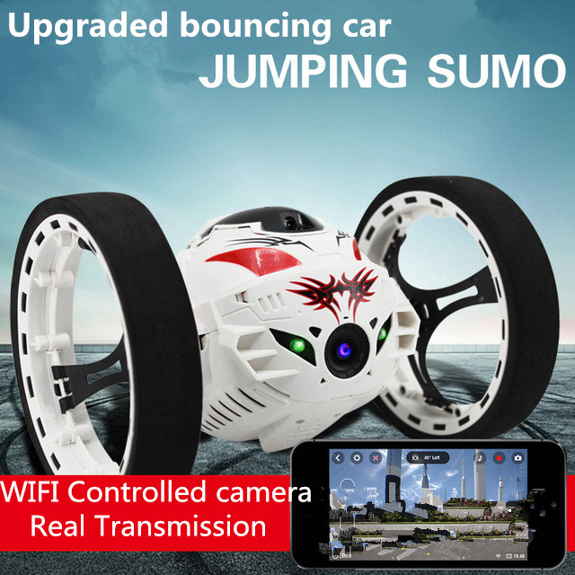 2016 New upgraded Bounce Stunt RC Car 4CH 2.4GHz Jumping Sumo Remote Control with WIFI Camera App controll Rc Car Toys wifi mini rc camera tank car ispy with video 0 3mp camera 777 270 remote control robot with 4ch suppots by iphone android app