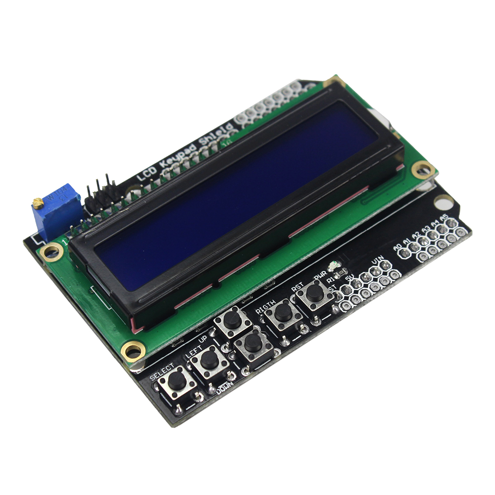 LCD Keypad Shield LCD1602 LCD 1602 Blue Screen Module Display for arduino Diy Kit lcd keypad shield for arduino duemilanove