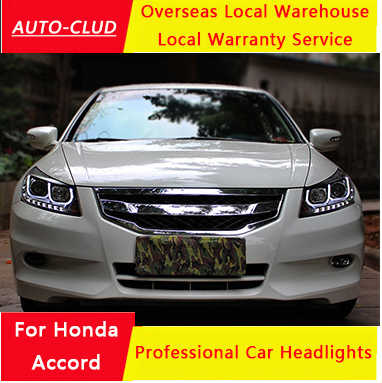 Auto Clud For Honda Accord Headlights 2010 13 Led Drl Light