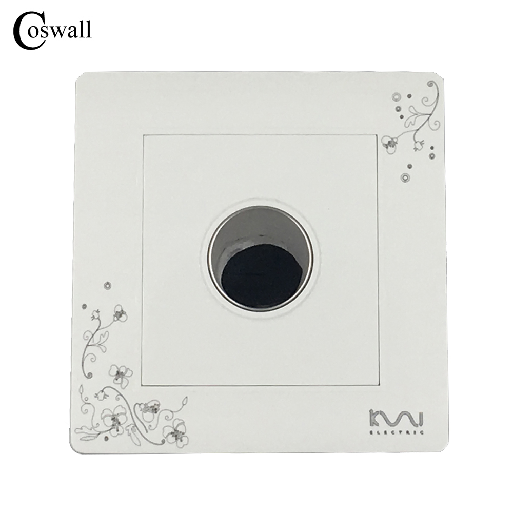 Coswall Luxury Wall Timer Switch Ivory White Touch Time Delay Switch AC 110~250V the ivory white european super suction wall mounted gate unique smoke door
