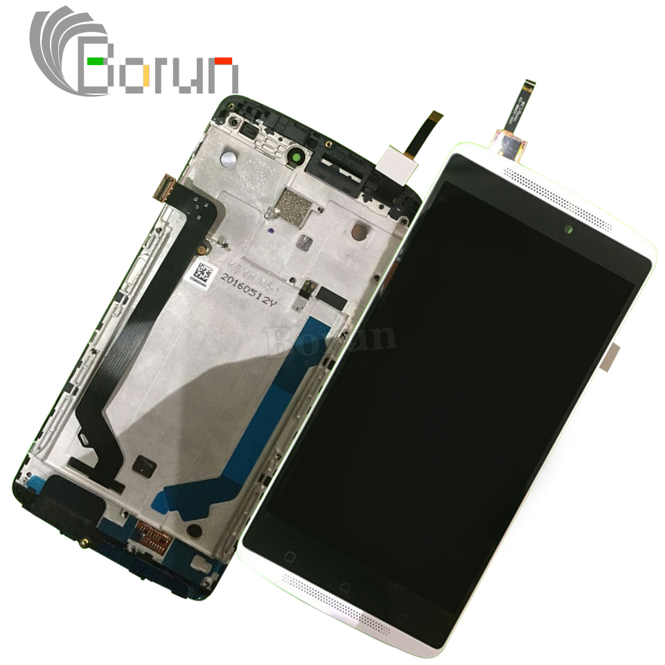 Original Display For Lenovo A7010 LCD Frame Vibe K4 NOTE Screen Touch Panel Digitizer Assembly repalcement parts k4 note lcd vibe x2 lcd display touch screen panel with frame digitizer accessories for lenovo vibe x2 smartphone white free shipping track