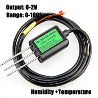 Free Shipping New 1pc 0 100 Soil Sensors 0 2V Output Soil Moisture Sensor Humidity Temperature