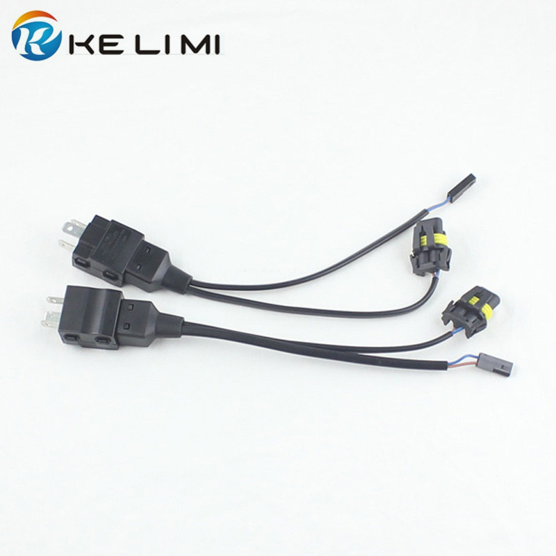 2x 12V Car Motorcycle HID Bi-Xenon H4-3 9003 HB2 H4 Hi/Lo All-in-one Controller Relay Connectors Wire Wiring Harness