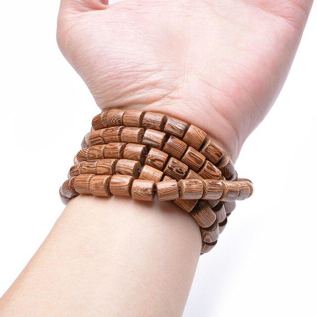 Купить натуральное дерево браслет для йоги счастливый мужской будды