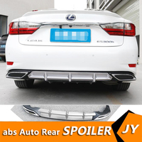 For Lexu ES250 ABS Rear Bumper Diffuser Protector For 2015 2017 Lexus ES2300 Body kit bumper rear Front shovel lip rear spoiler