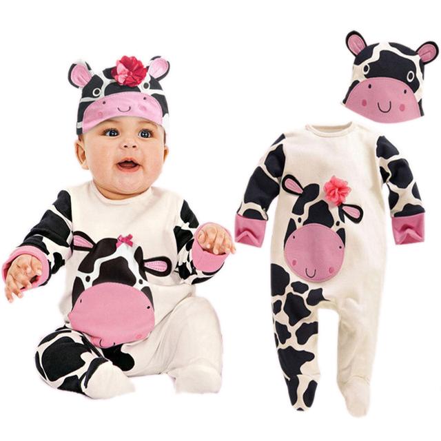 2017 Bebê Recém-nascido Menino Romper Bebê Dos Desenhos Animados Animais Bonitos Trajes Outfits Roupa Do Bebê Recém-nascido Macacão Para O Bebê Aniversário