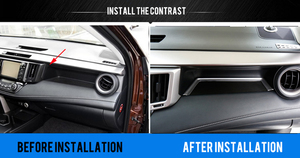 Image 2 - Nur für linkslenker Für Toyota RAV4 2014 2017 Zubehör Matte Innen Co pilot lagerung U typ Trim Dekoration