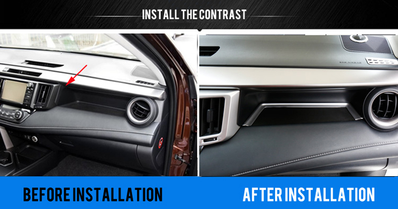 Image 2 - Only for Left hand drive For Toyota RAV4  2014 2017 Accessories  Matte  Interior Co pilot storage U type  Cover Trim Decoration-in Interior Mouldings from Automobiles & Motorcycles