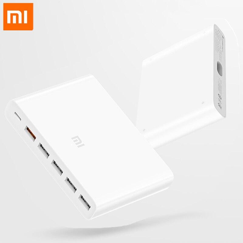 100 Original Xiaomi USB C60W Charger Output Type C 6 USB Ports QC 3 0 Quick