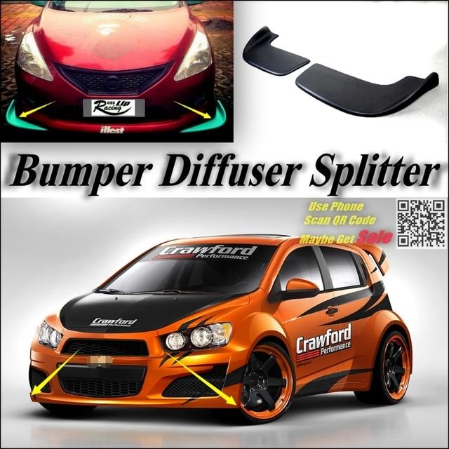 Car Splitter Diffuser Bumper Canard Lip For Chevrolet Aveo Sonic