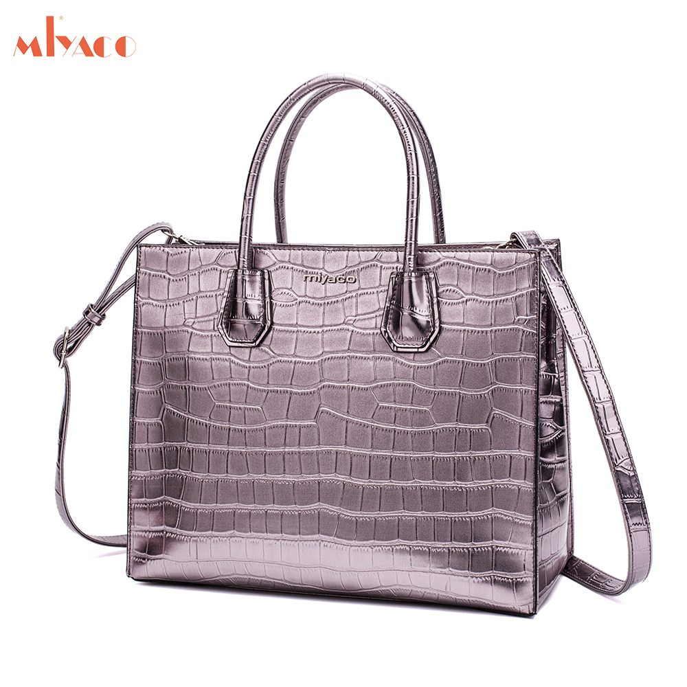 MIYACO Luxury Women Handbags PU Leather Bags Designer Ladies Tote Bag For Women Shoulder Bag Sac A Main fashion luxury handbags women leather composite bags designer crossbody bags ladies tote ba women shoulder bag sac a maing for