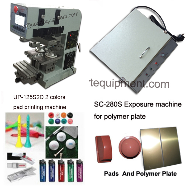 desktop 2 color pads shuttle tampo printing machine, small 2-color pad printing machine