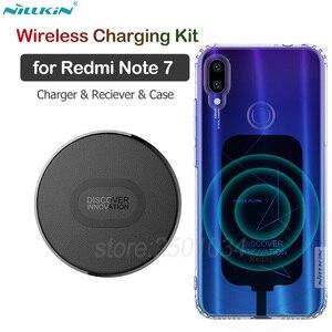 Nillkin para Xiaomi Redmi Note 7, Kit Qi de carga inalámbrica, cargador inalámbrico + receptor de carga tipo C + funda de TPU para Redmi Note 7 Pro