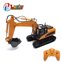 New Arrival Battery Charging Simulate Model Vehicle Real Alloy 1:14 rc Excavator for Kids Remote Control Electric oyuncak