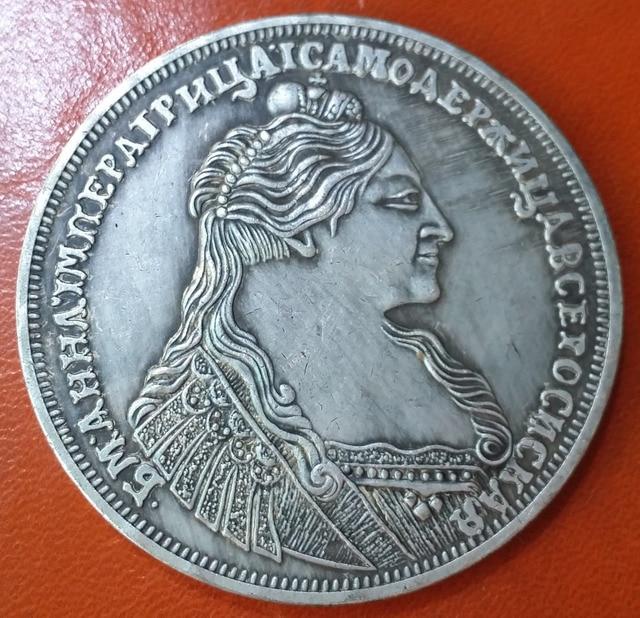 Russe Empire 1737 Rouble-Anna argent Coin LIVRAISON GRATUITE