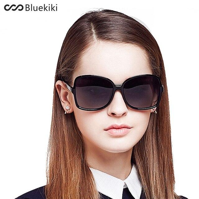b4639cf1331 KIKI Women Polarized Sunglasses Large Round Driving Oval Sun Glasses Retro  Oversized Gift Square Oculos De