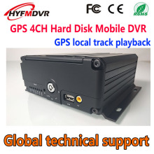 Ahd4-channel hard disk MOBILE DVR GPS local video/monitor track playback monitoring host school bus/fire truck monitoring system mr9504 720p bus monitor system with gps module