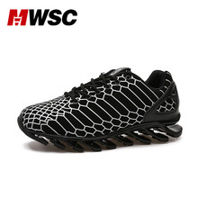 MWSC New Fashion Summer Breathable Casual Shoes Men Snake Stripe Brand Blade Sole Trending Shoes Gold Black Silver