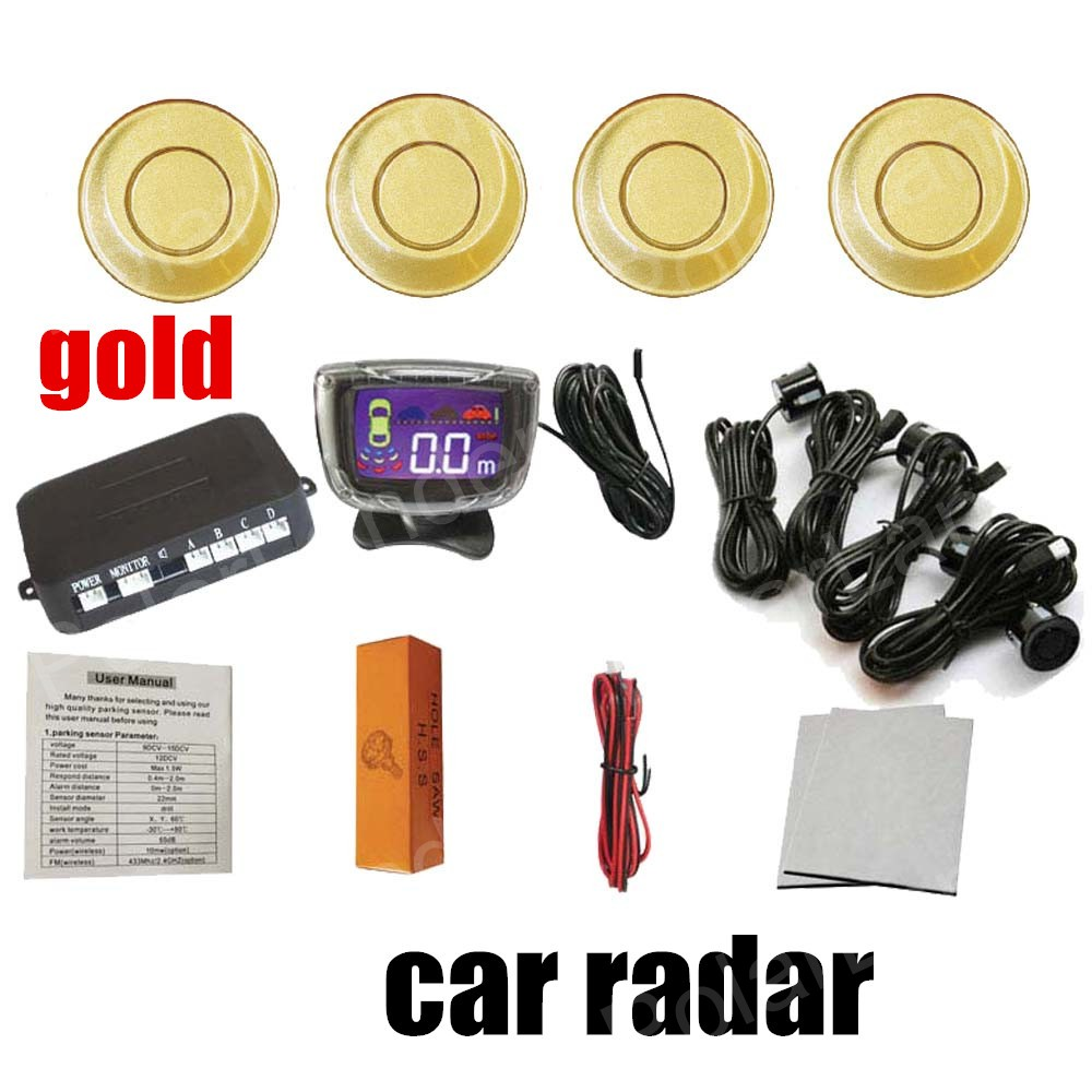 Top quality car parking system radar 12v 9 colors car lcd parking top quality car parking system radar 12v 9 colors car lcd parking sensor kit display 4 sensors monitor auto reverse backup publicscrutiny Images