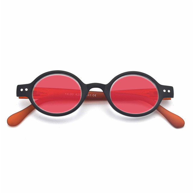 dc149bb296d8 MINCL 2018 Vintage small Round Sunglasses Women FashionMen Sun Glasses  UV400 red lens sunglasses with box FML