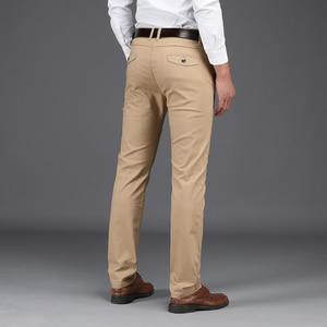 Image 3 - Yeni gelenler erkek iş rahat pantolon moda pantolon düz pamuk elastik temel klasik erkek moda pantolon artı boyutu 28 42