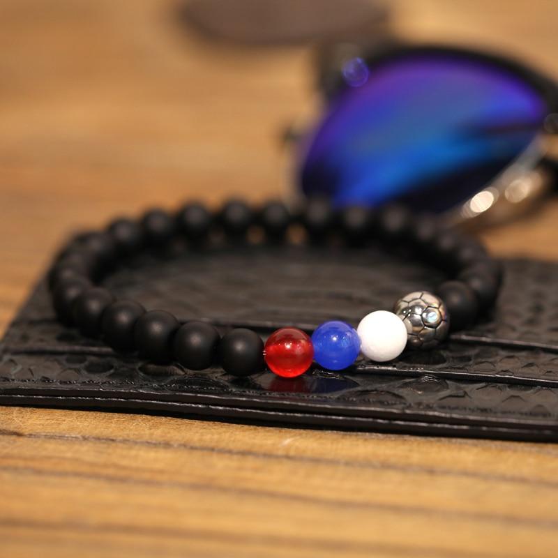 Magic Fish Bracelet men New Fashion 8mm Beaded natural stone Titanium steel beads Bracelets Mens jewelry pulsera hombre boho new