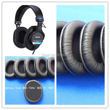 hot deal buy 8pcs leather ear pads headset ear cushions durable sponge earpads fit on sony mdr-7506, v6, hd202