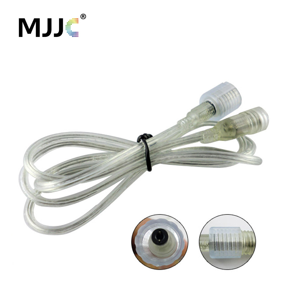 Male Female Crystal DC Power Cord 1M IP68 Waterproof Connector Extension Cable Wire for 12V 24V LED Strip Light 2015 new 10pcs lot dc power extension cable 5 meter 16 5ft to 5 5mmx2 1mm male plug for cctv camera 12 volt extension cord