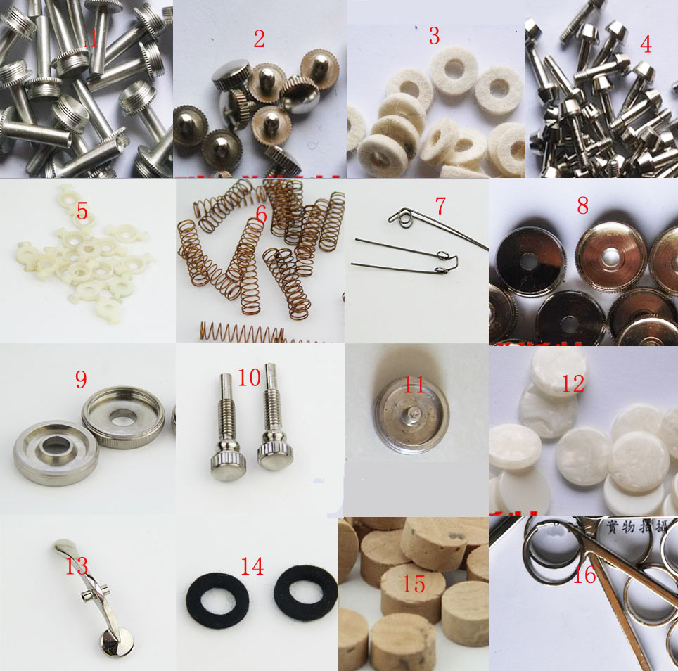 Trumpet Instrument Parts Accessories Fittings All Universal Drop B Key Release Valve Spring Bracket Button Upper And Lower Cover