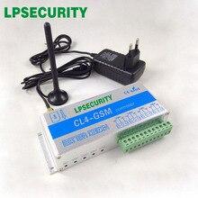 LPSECURITY GSM SMS Controller CL4 GSM SENSOR ไร้สายระยะไกลด้วยกล่องอลูมิเนียม 4 รีเลย์ 3M เสาอากาศอุปกรณ์เสริม