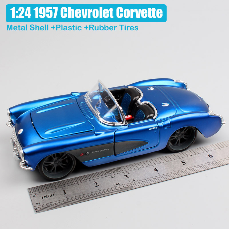 124 Scale Maisto Classic Vintage Chevrolet Chevy Corvette 1957 Vette Convertible Sports Die Cast Modeling Car Toy Collectibles In Diecasts Vehicles