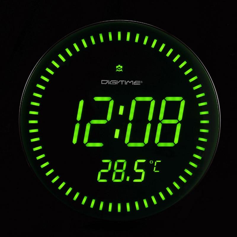 Emejing Horloge Murale Digitale Vert Contemporary - Sledbralorne.com ...