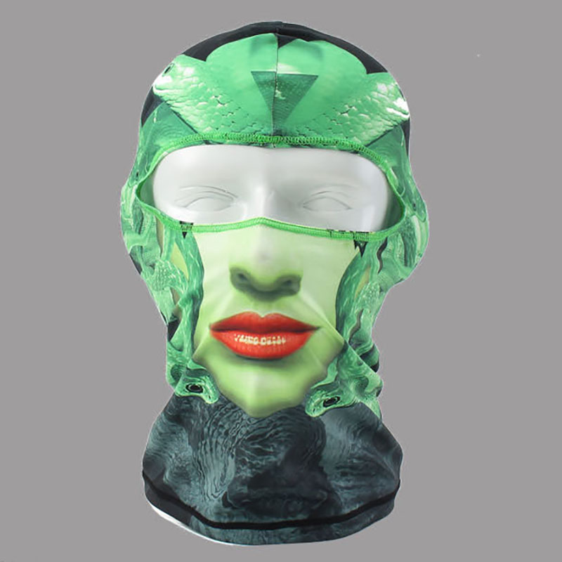 2016 LINGSHANG Hot sell skull full face mask beach headwear facekini mask  Heads Motorcycle Balaclava Skull mask Windproof airsoft adults cs field game skeleton warrior skull paintball mask