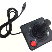 レトロクラシックコントローラーゲームパッドジョイスティックアタリ 2600 コンソールシステム黒