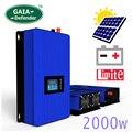 2000 Вт Батарея мощность разряда режим/MPPT сетевой инвертор на солнечных батарейках инвертор с ограничителем датчика постоянного тока 45-90 В AC ...
