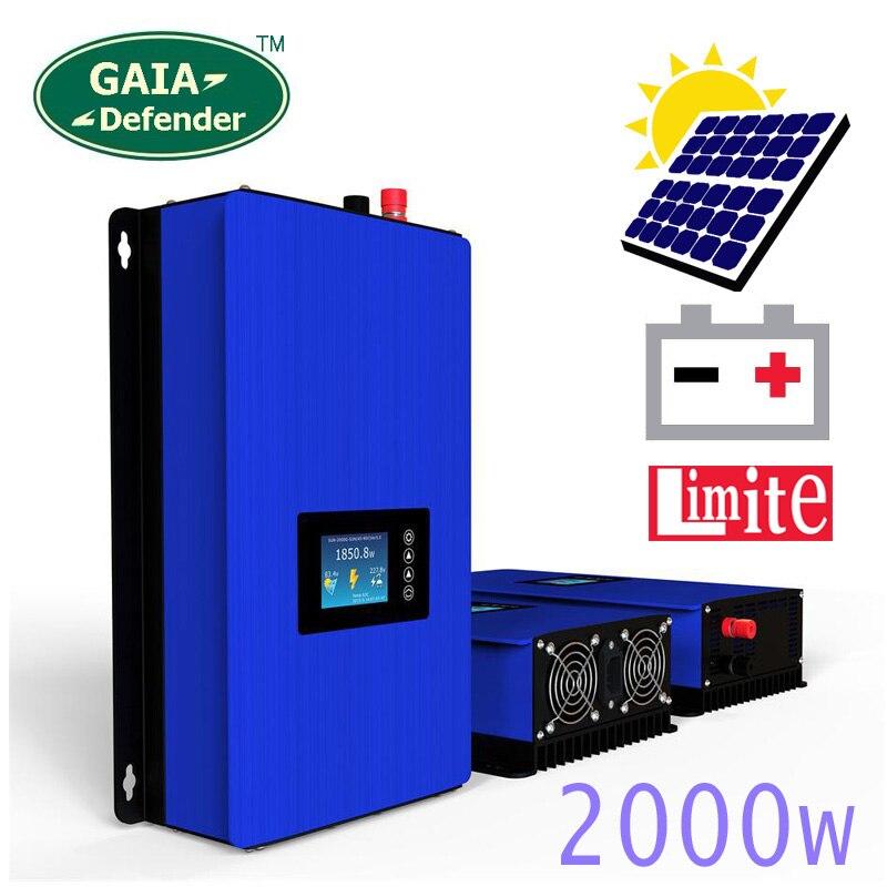 2000W Modo De Alimentação de Descarga Da Bateria/MPPT Solar Inversor Grid Tie com Limitador Sensor DC 45-90V AC 220V 230V 240V PV ligado