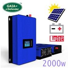 Inversor solar com sensor limitador, modo de alimentação de descarga de bateria/mppt 2000w, inversor de grade com sensor limitador dc 45 90v ac 220v 230v 240v pv conectado