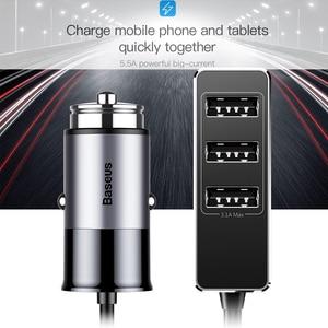 Image 4 - Chargeur de voiture USB Baseus 4 5V 5A charge rapide pour iPhone iPad Samsung Xiaomi tablette adaptateur GPS chargeur chargeur de téléphone de voiture