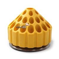 1 unid plástico dental Bur holder bloquear Caso 35 agujeros 360 grados caja giratoria