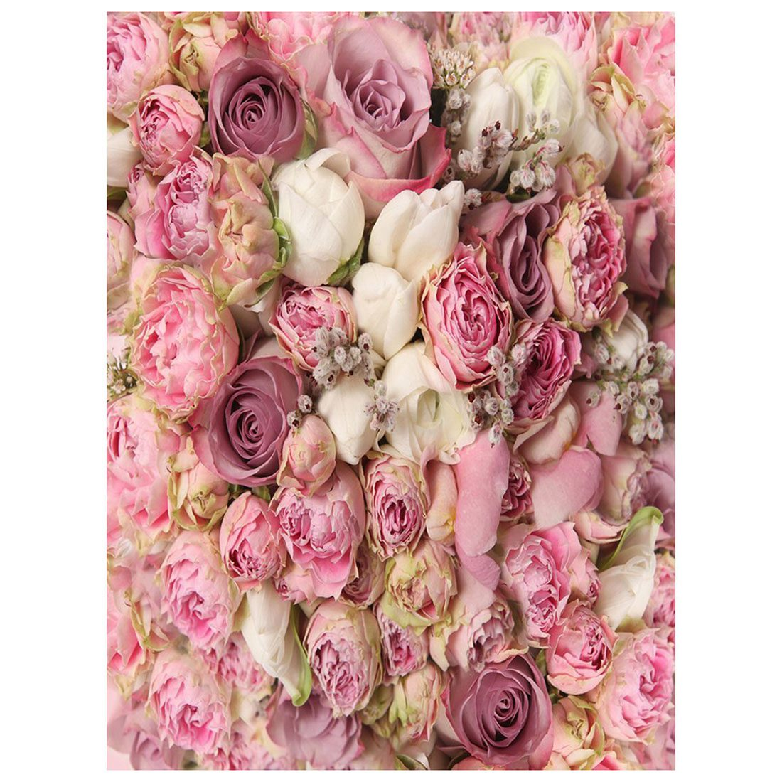 5x7ft Photography Backdrops Wedding Bouquet Pinkwhite Floral Flower